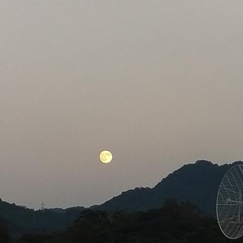 旅先で中秋の名月