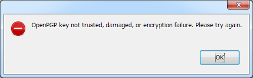 Encryption error